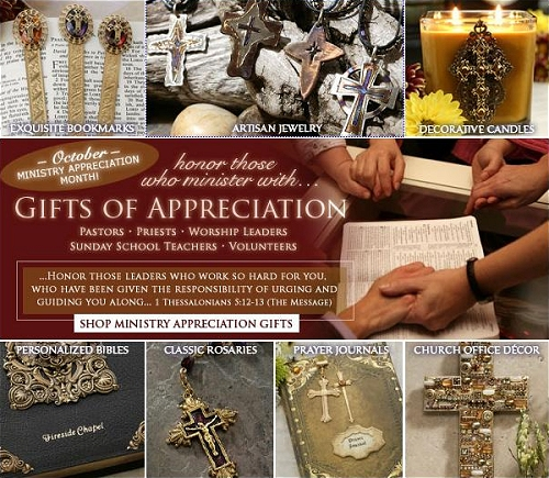 Gifts of appreciation for those who minister